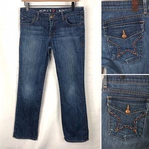 People's Liberation Star Flap Button Pocket Jeans